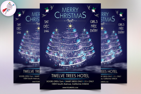 Merry Christmas Flyer Template V2