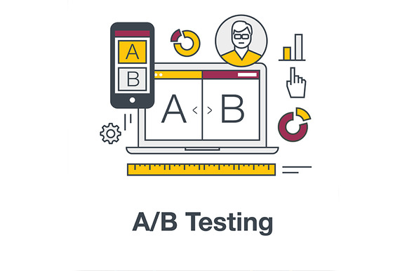 Flat Icon Banner For AB Testing