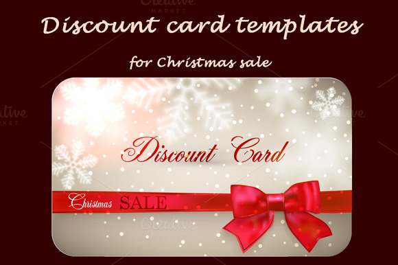 Discount Cards For Christmas Sale