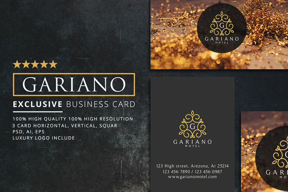 Gariano Luxury Business Card 3 In 1