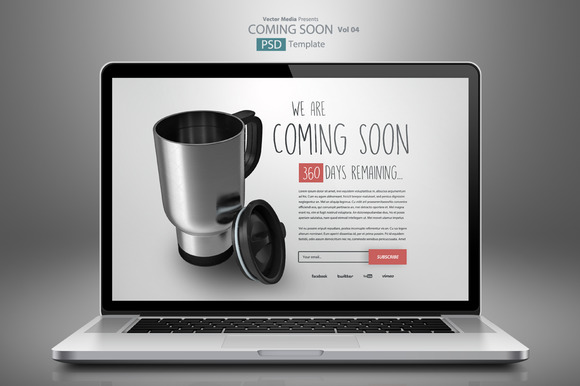 Coming Soon PSD Template 04