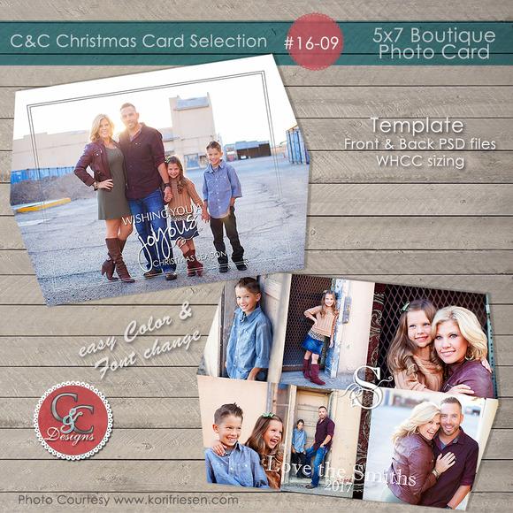 Christmas Photo Card Selection#16-09
