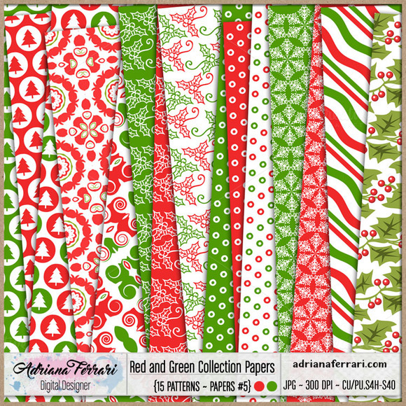 Red And Green Collection Papers 5