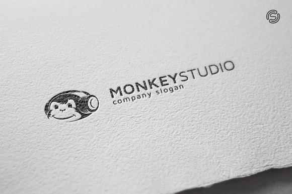 Monkey Studio Logo Template