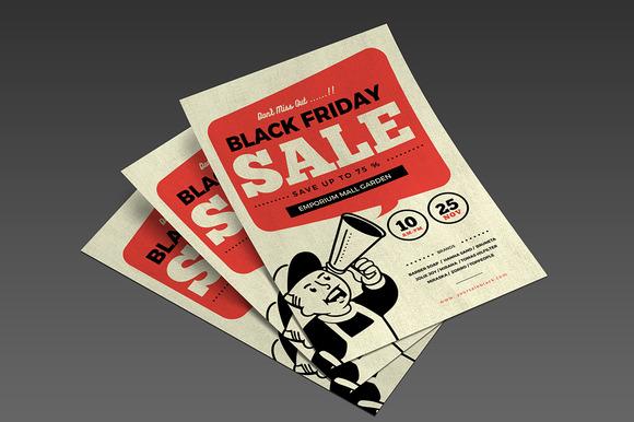 Retro Black Friday Flyer