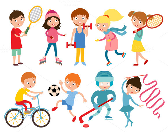 Kids In Sport Vector