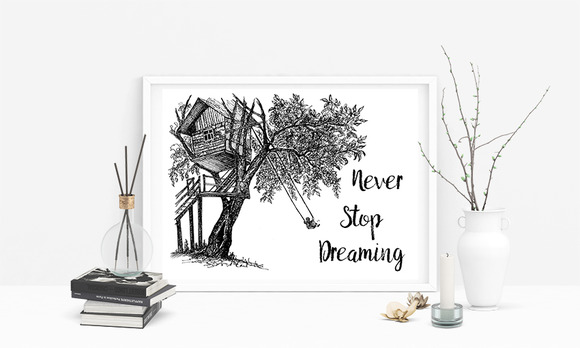 Never Stop Dreaming Quote Ink House