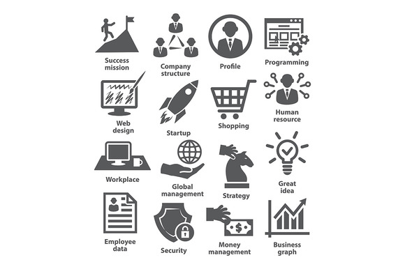 Business Management Icons Pack 29