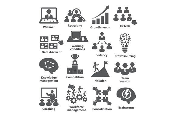 Business Management Icons Pack 30