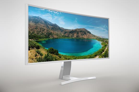 Samsung SE790C Curved Monitor MockUp