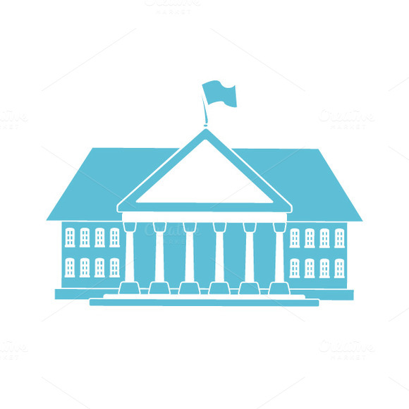 Classical Style Building Icon