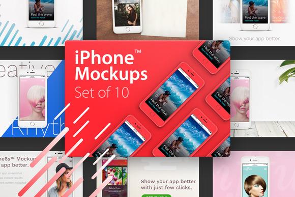10 IPhone Mockups