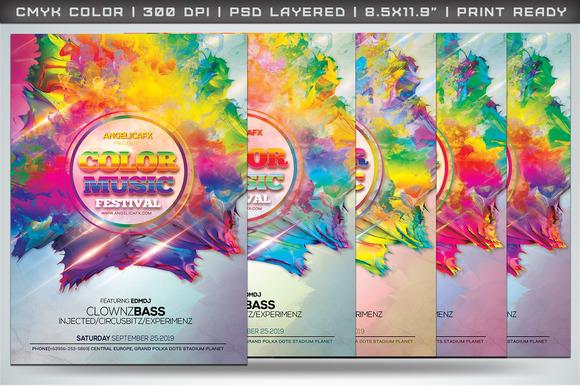Color Music Festival Flyer Template