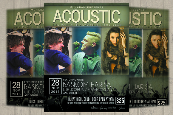 Acoustic Flyer Poster