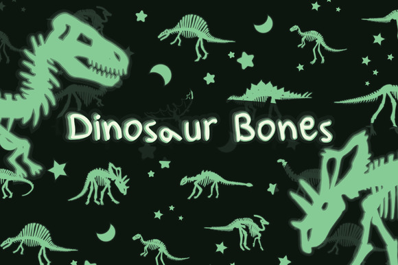 Glowing Dinosaur Bones