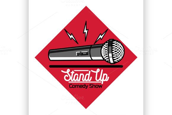 Stand Up Comedy Show Emblem