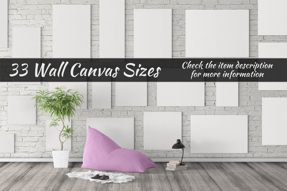 Canvas Mockups Vol 45