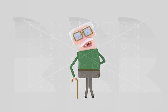3D Illustration Old Man