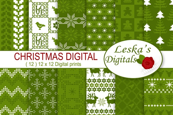Scandinavian Christmas Digital Paper
