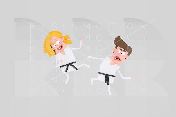 3D Illustration Karate Kids