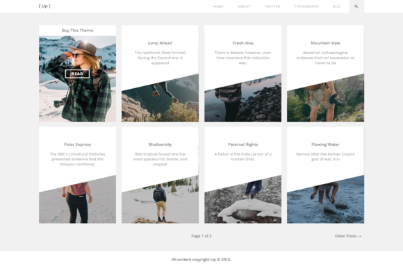 Up Blog WordPress Theme