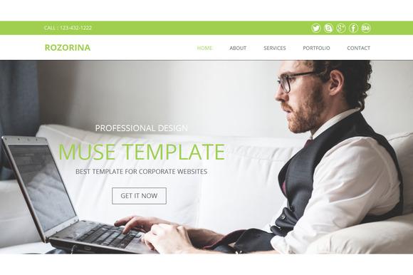 Rozorina Multi-page Muse Template
