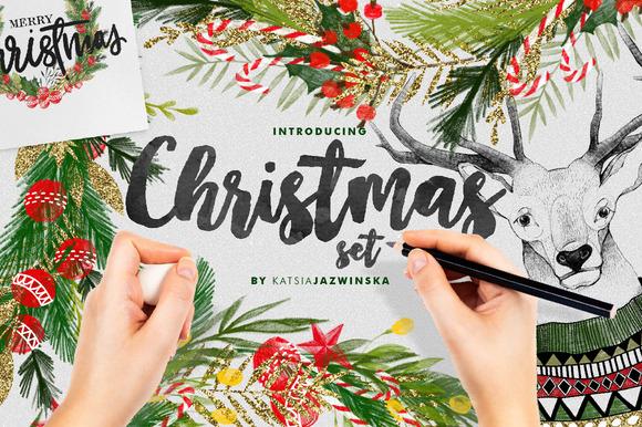 Christmas Illustration Set FREEBIE