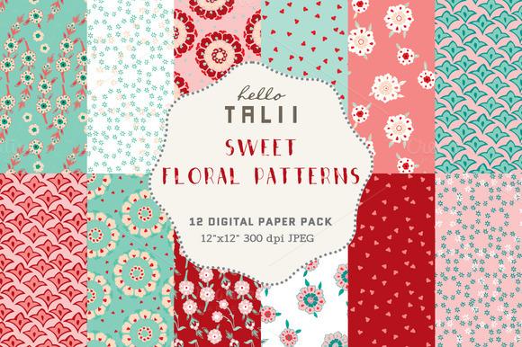Sweet Florals Digital Paper
