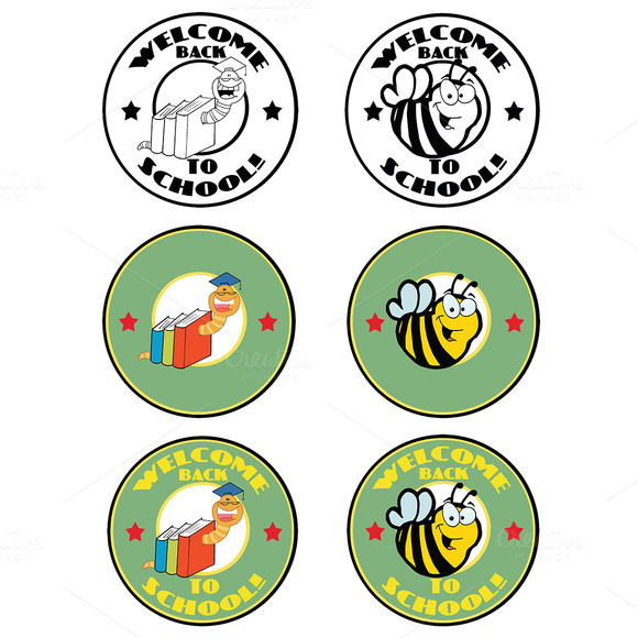 Cartoon School Banners Collection