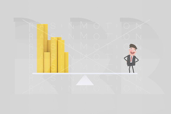 3D Illustration Money Balance