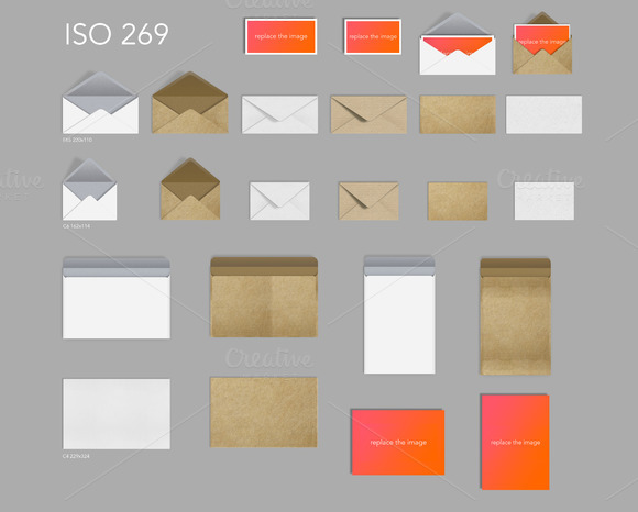 26 Craft Paper Envelopes Postcards