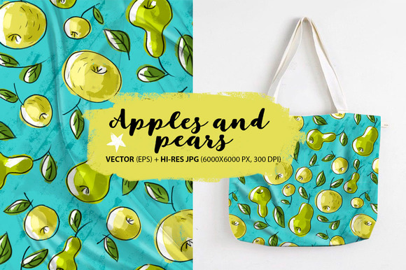 Pattern With Apples And Pears