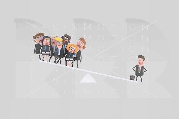 3D Illustration Team Balance