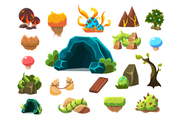 Forest Elements For Game