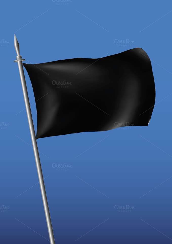 Black Flag Vector