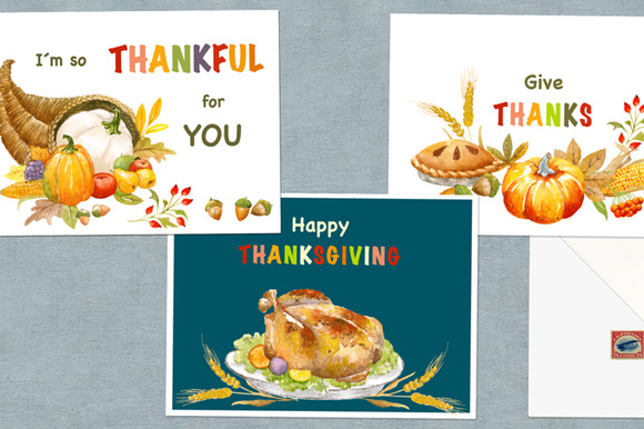 3 Printable Thanksgiving Cards
