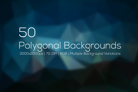 50 Polygonal Backgrounds