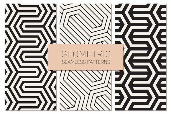 Geometric Seamless Patterns Set 16