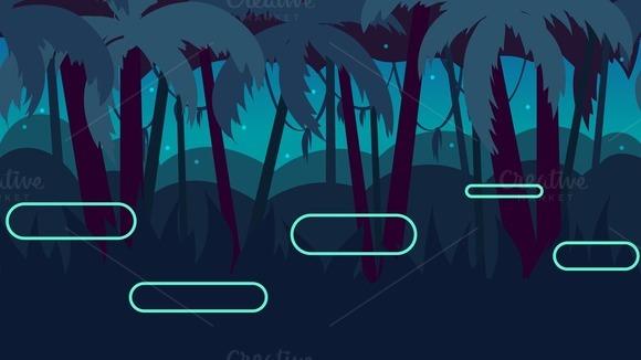 Dark Jungle Seamless Background