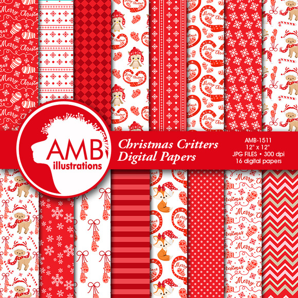 Christmas Critters Papers 1511