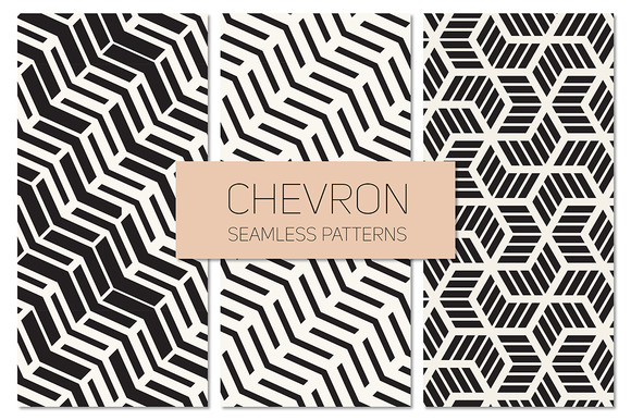 Chevron Seamless Patterns Set 3