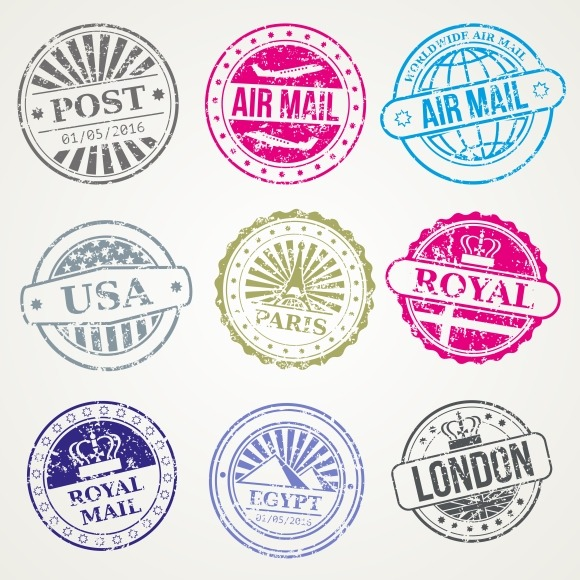 Free vintage airmail border designtube creative design for Post office design your own stamps