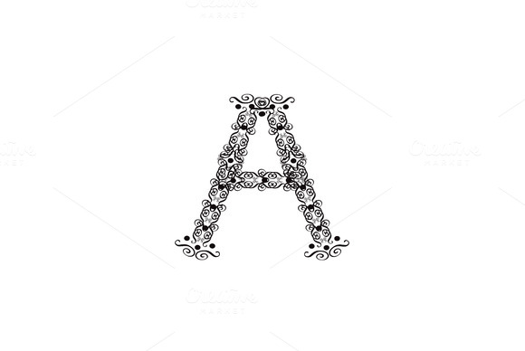 Ornament Fonts Alphabet A Z Black