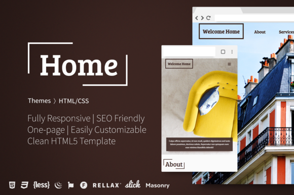 Home One-Page HTML5 Template