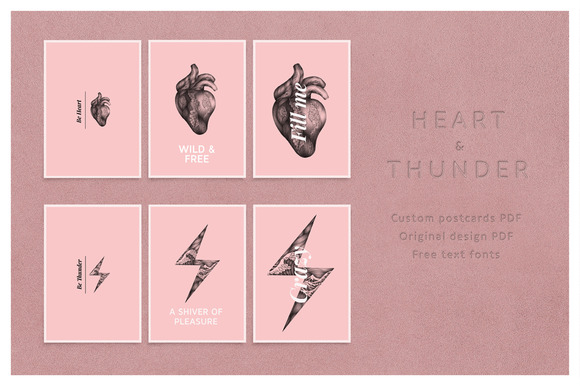 Thunder And Heart Postcards