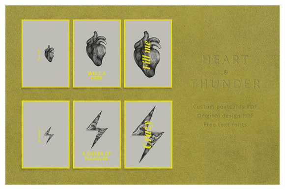 Thunder And Heart Postcard