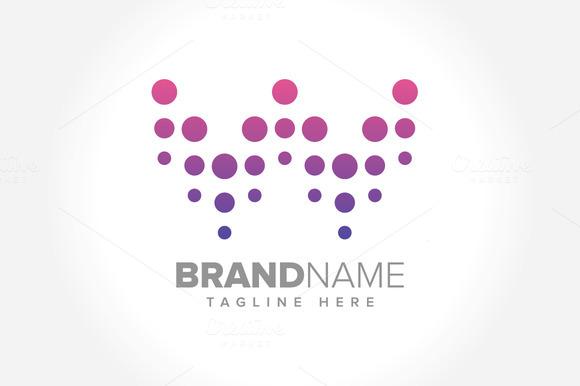 Creative Dots Initial W Symbol