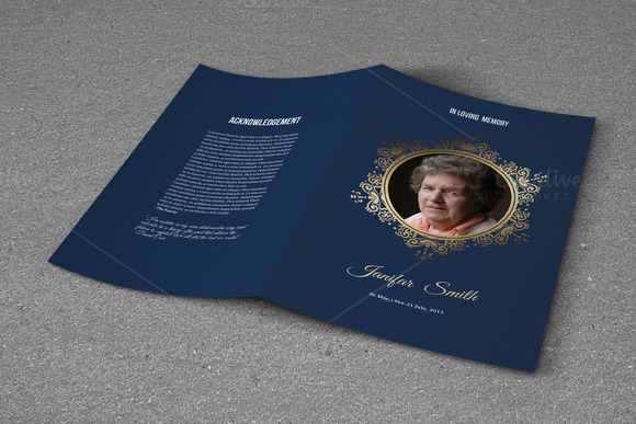 Funeral Program Template-T623