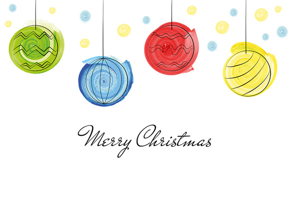 Christmas Balls Greetings Card