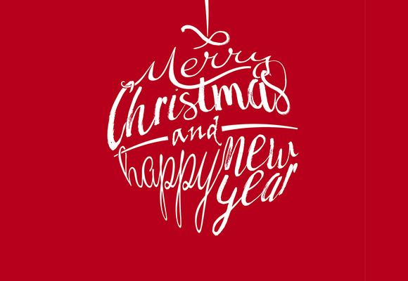 Christmas Greetings With Lettering